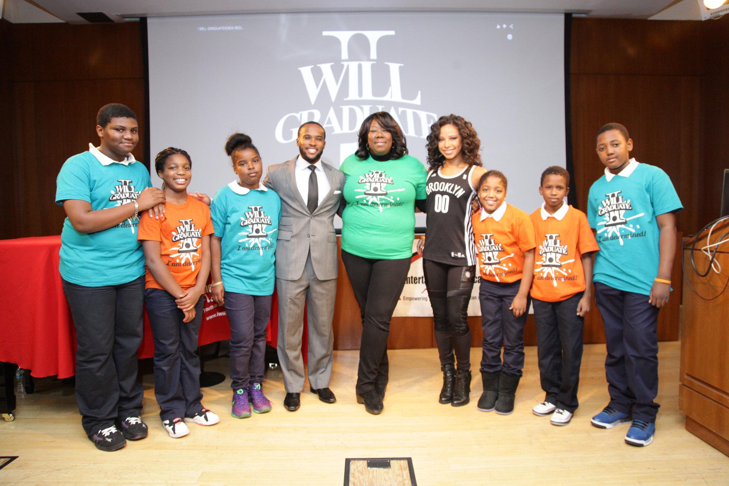Brooklyn NETS Organization hosted our annual I WILL GRADUATE Week Celebration.
