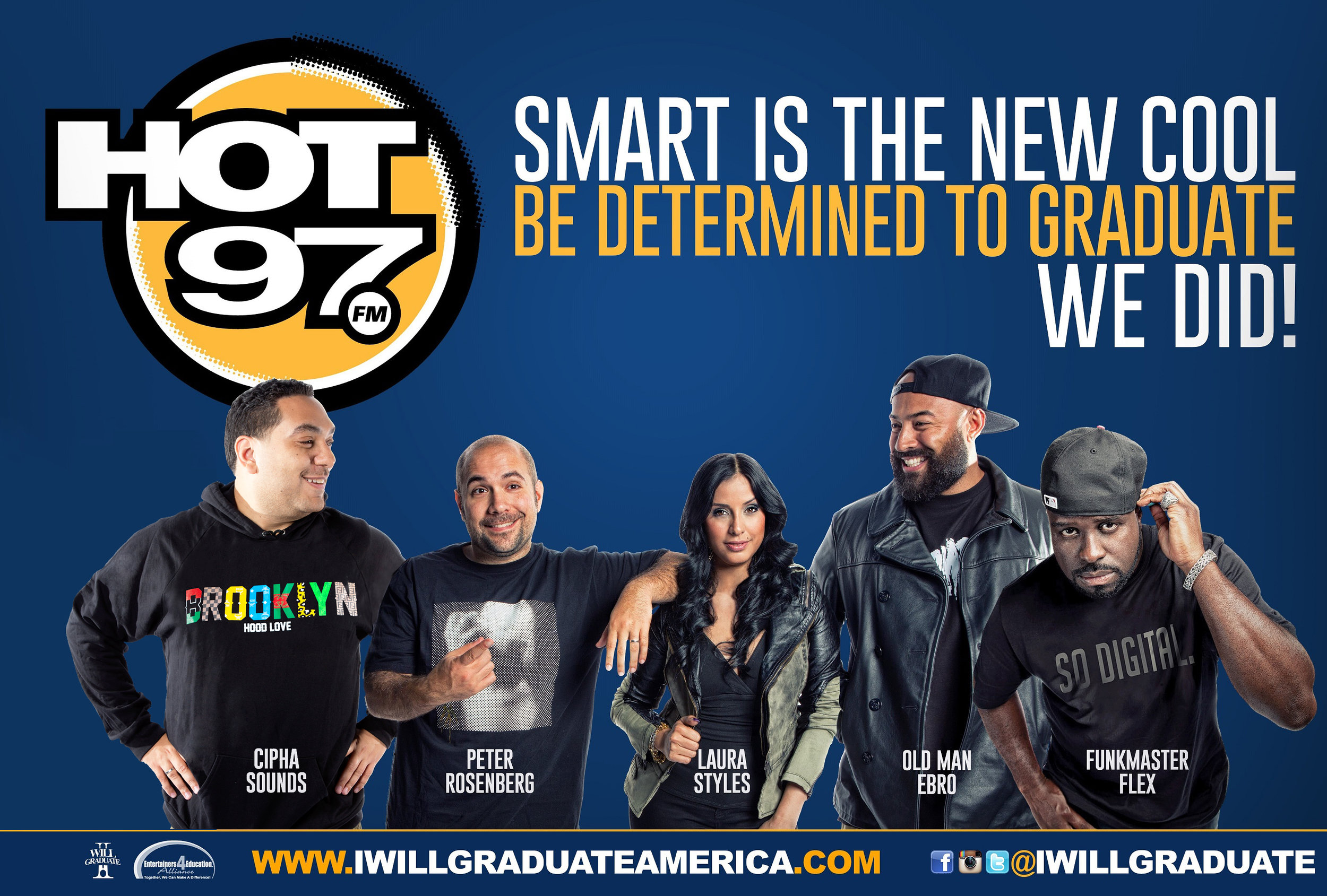 """Emmis Communication """"Hot 97"""" """"I WILL GRADUATE"""" Poster Campaign."""