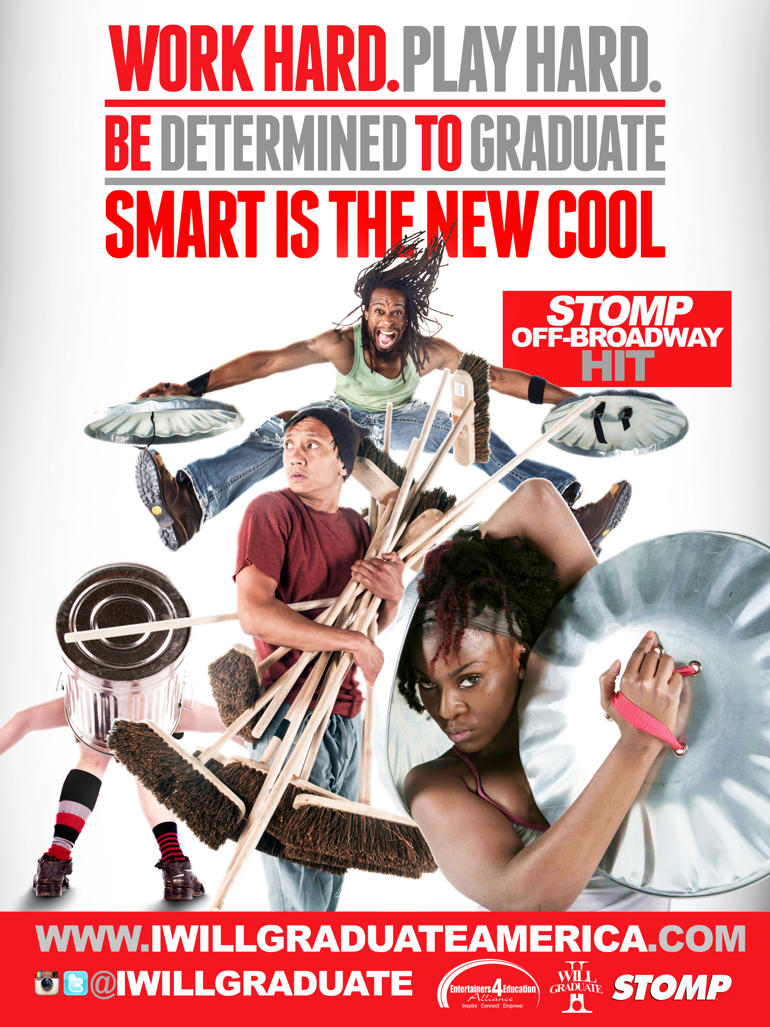 """Cast of STOMP """"I WILL GRADUATE"""" Poster Campaign."""