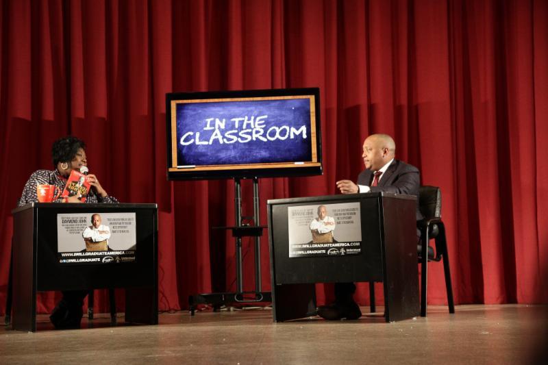"Executive Dir. Tonya Lewis Taylor discusses with mogul Daymond John his new book ""The Power of Broke."""
