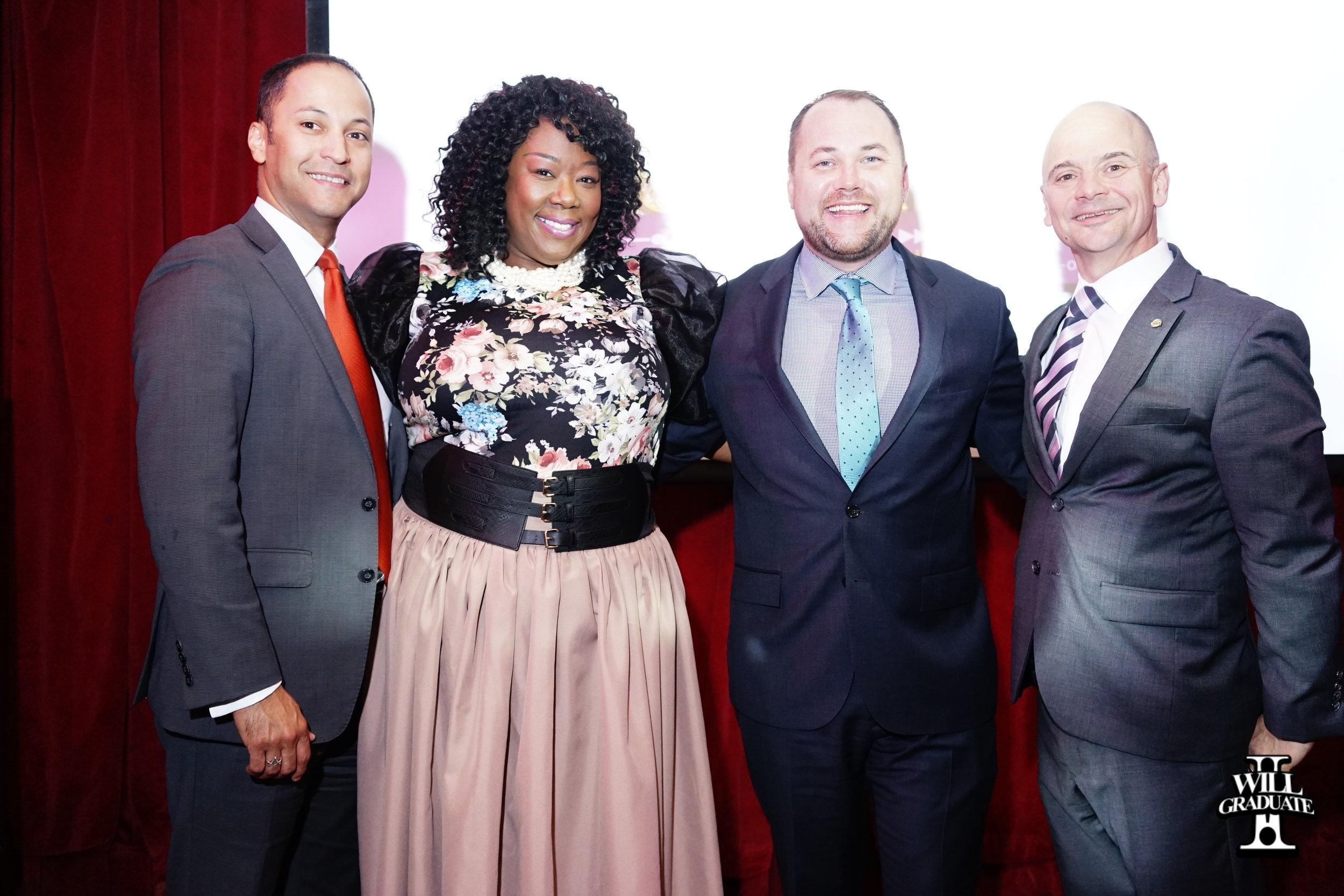 Left to Right: Henry Rubio (VP of CSA), David Vazquez (Principal Honoree), Tõnya Lewis Taylor (E4EA), Corey Johnson ( Speaker of New York City Council) and Mark Cannizzaro (CSA)