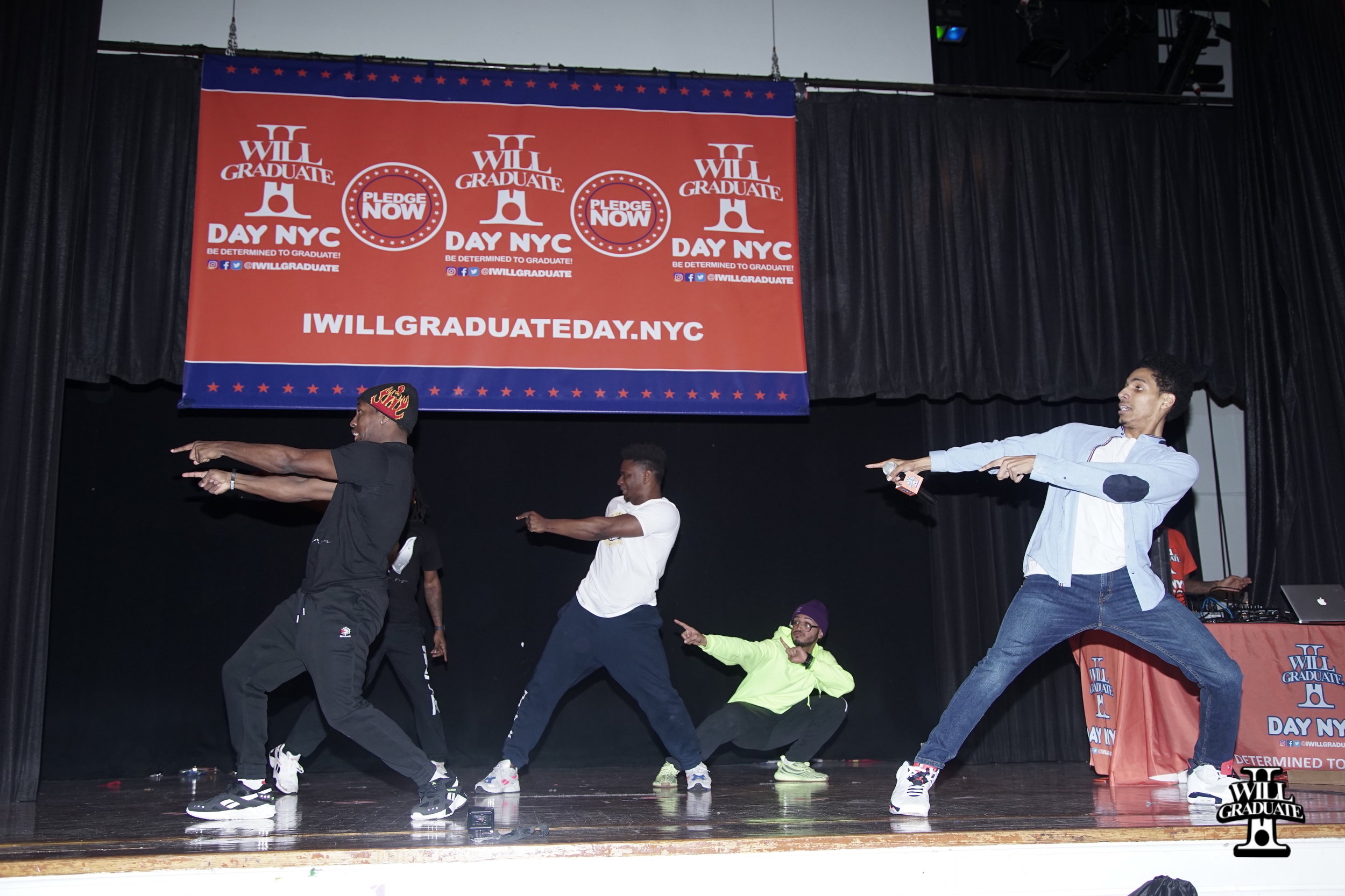 Actor and Performer Arnstar and Waffle NYC perform at I WILL GRADUATE DAY