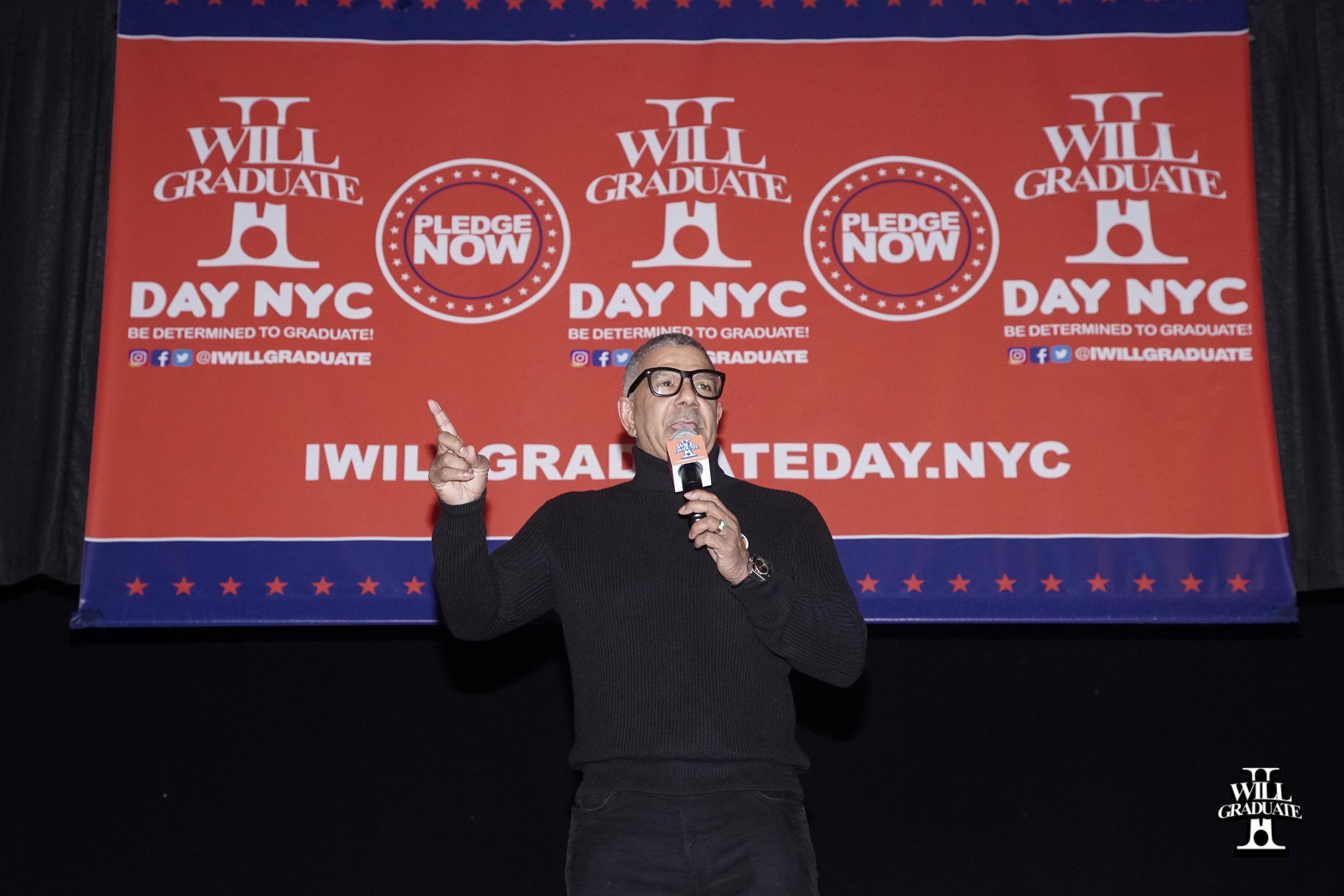 Comedian Ray DeJon at I WILL GRADUATE DAY