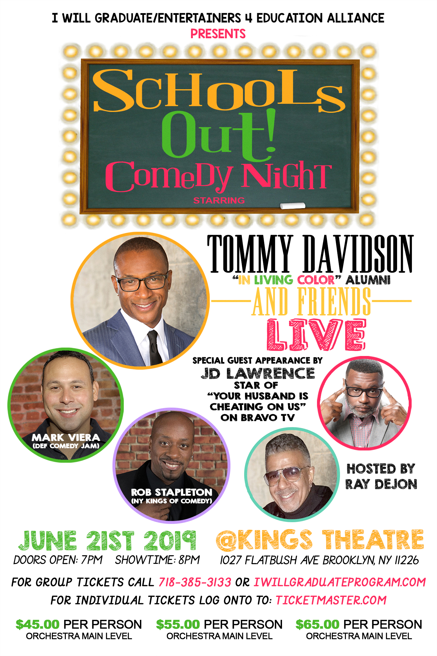 Schools Out Comedy Night