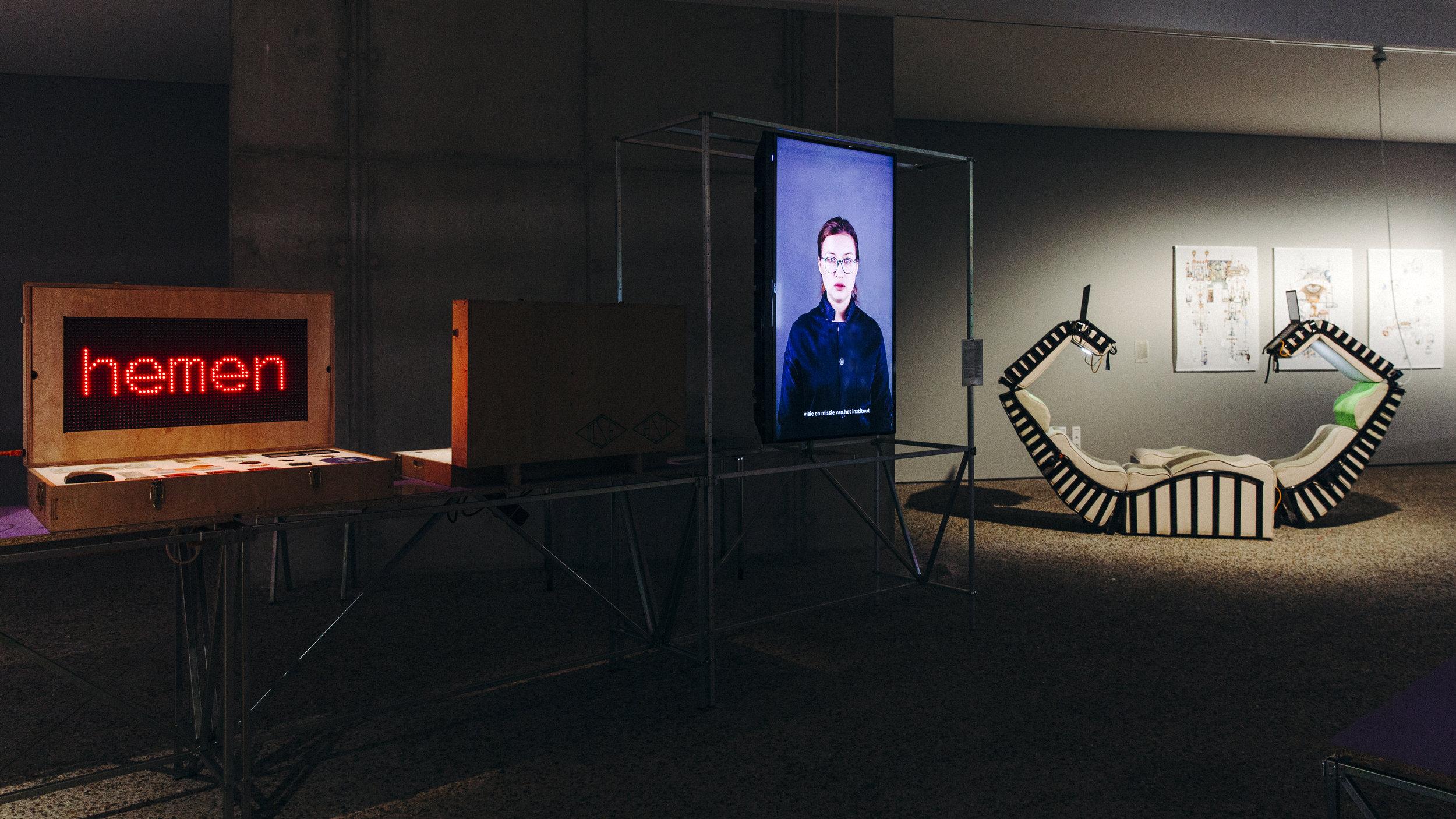 Installation view, A School of Schools, C-Mine Genk, photo Selma Gurbuz