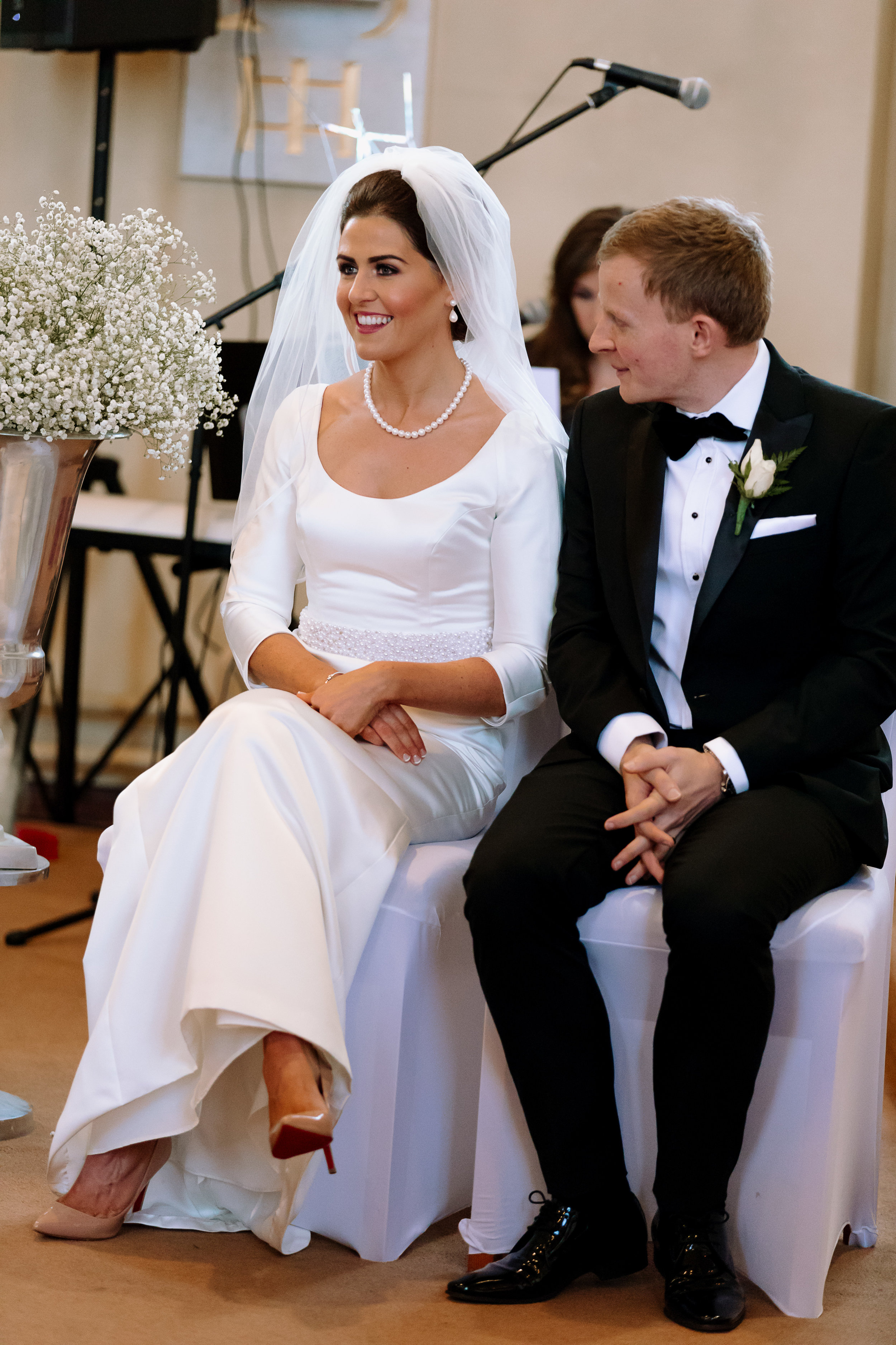 Louise and I also shared a love of shoes. She opted for the ever classic Christian Louboutins Nude for her big day. Setting her beautiful Jesus Peiro gown perfectly.