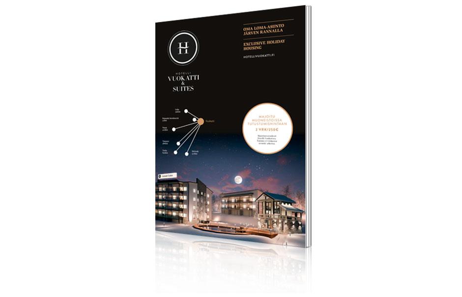 Hotelli Vuokatti & Suites -esitteen suunnittelu ja taitto.  Tutustu!