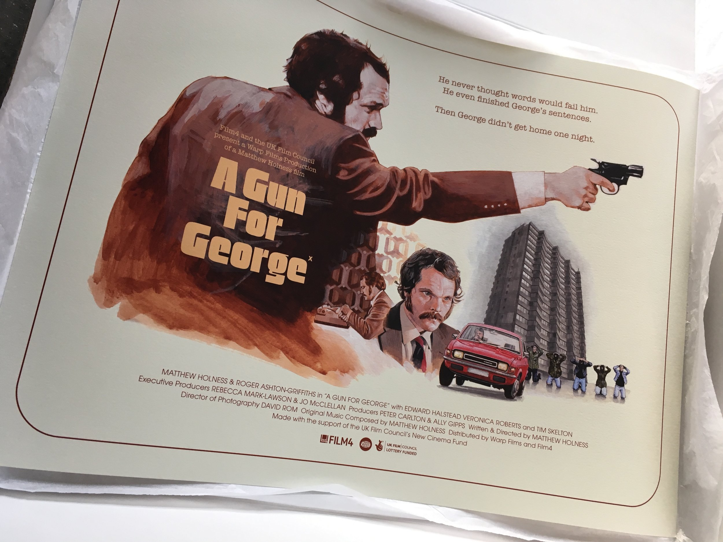 A Gun For George  alternative movie poster giclee prints, 2018