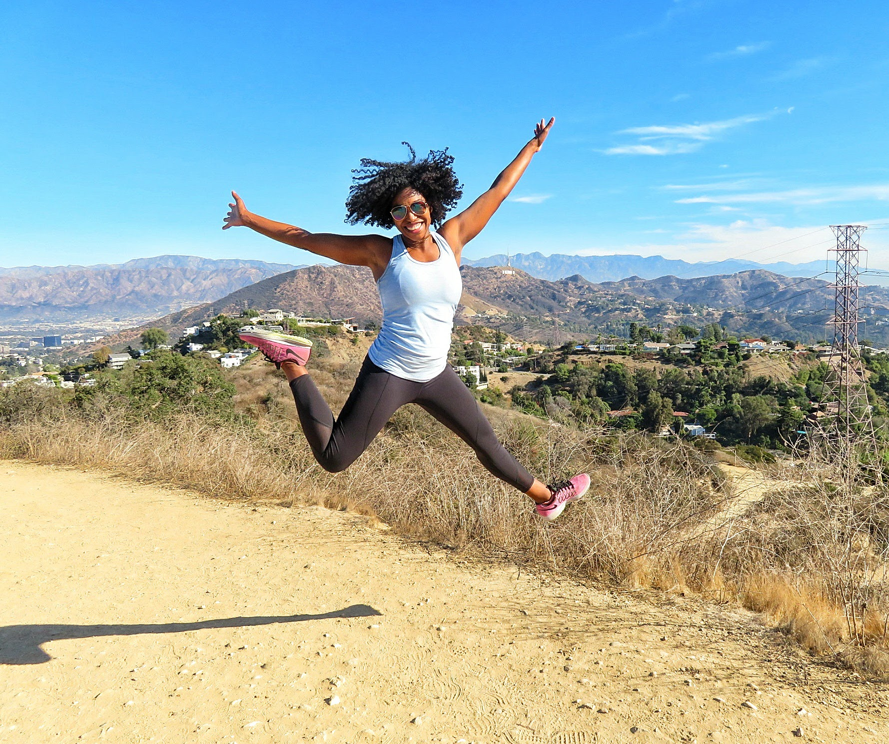 Hiking in Runyon Canyon.. First thing I did when I arrived in LA!