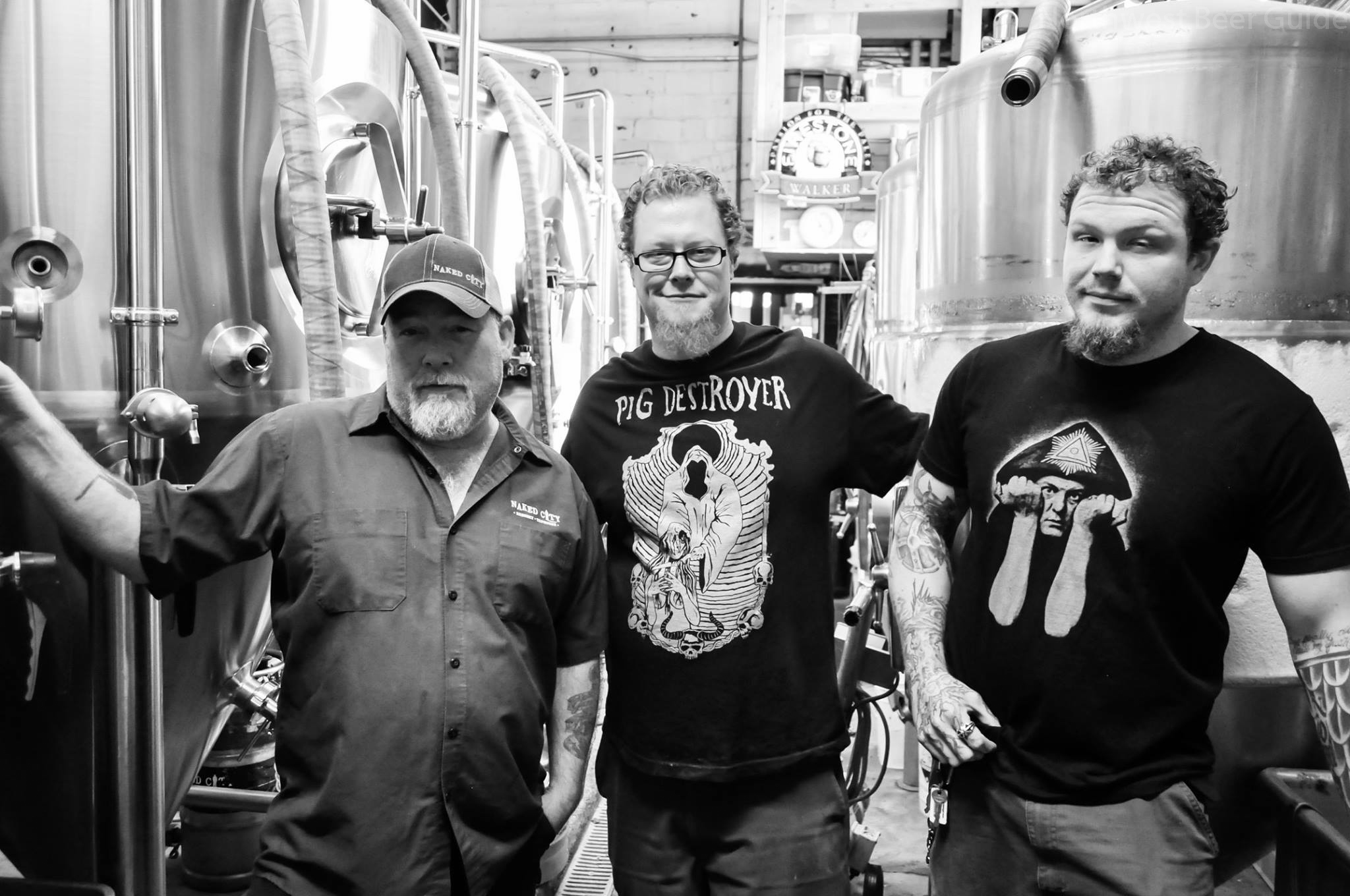 Pictured Don Web co-owner of Naked City Brewery & Taphouse, Matt Bonney co-owner of Toronado, Kenneth Sorenson from Standard Brewing Company/Copyright Northwrest Beer Guide