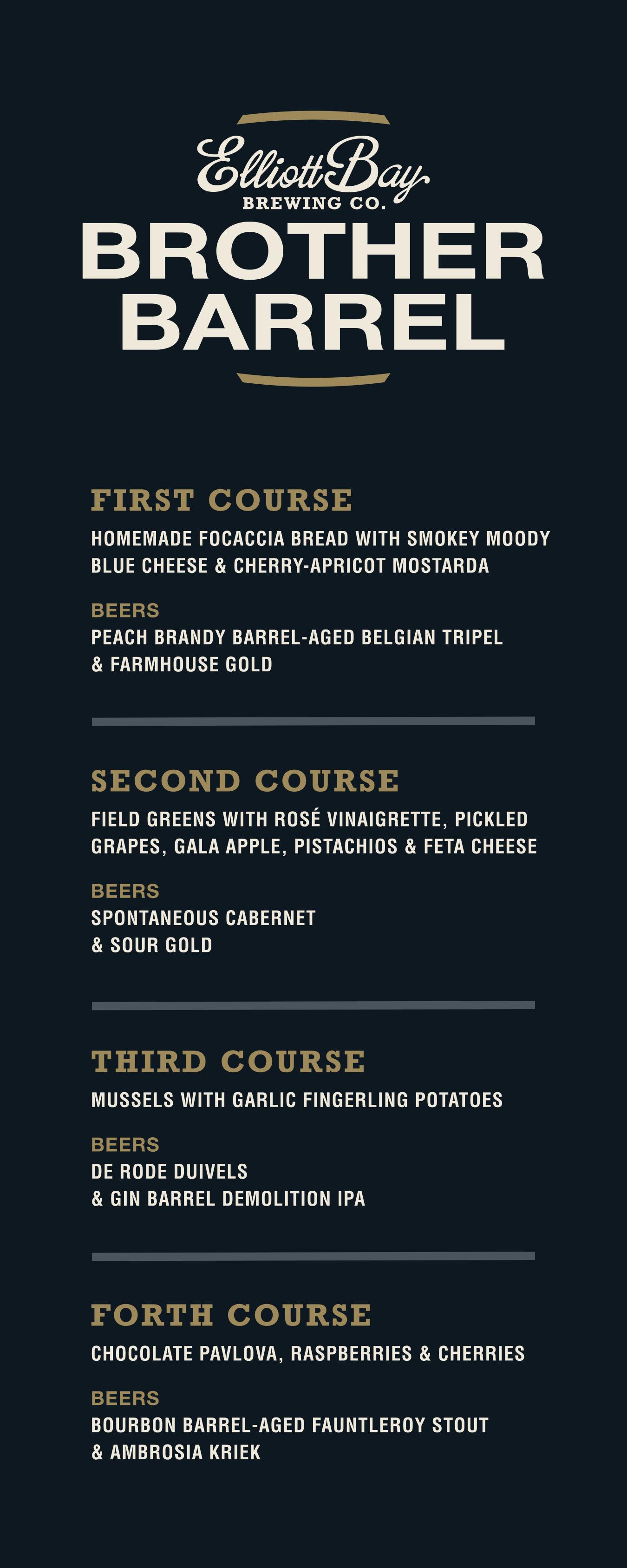 menu courtesy Brother Barrel