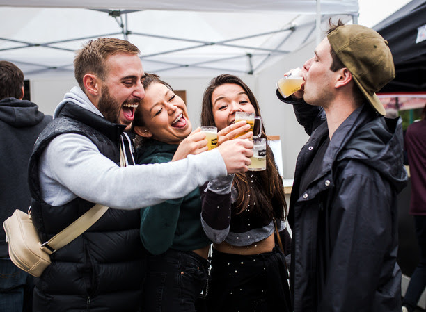 """""""2018 Vancouver Craft Beer Week Festival at the PNE Fairgrounds"""". Courtesy Claudia Wyler."""