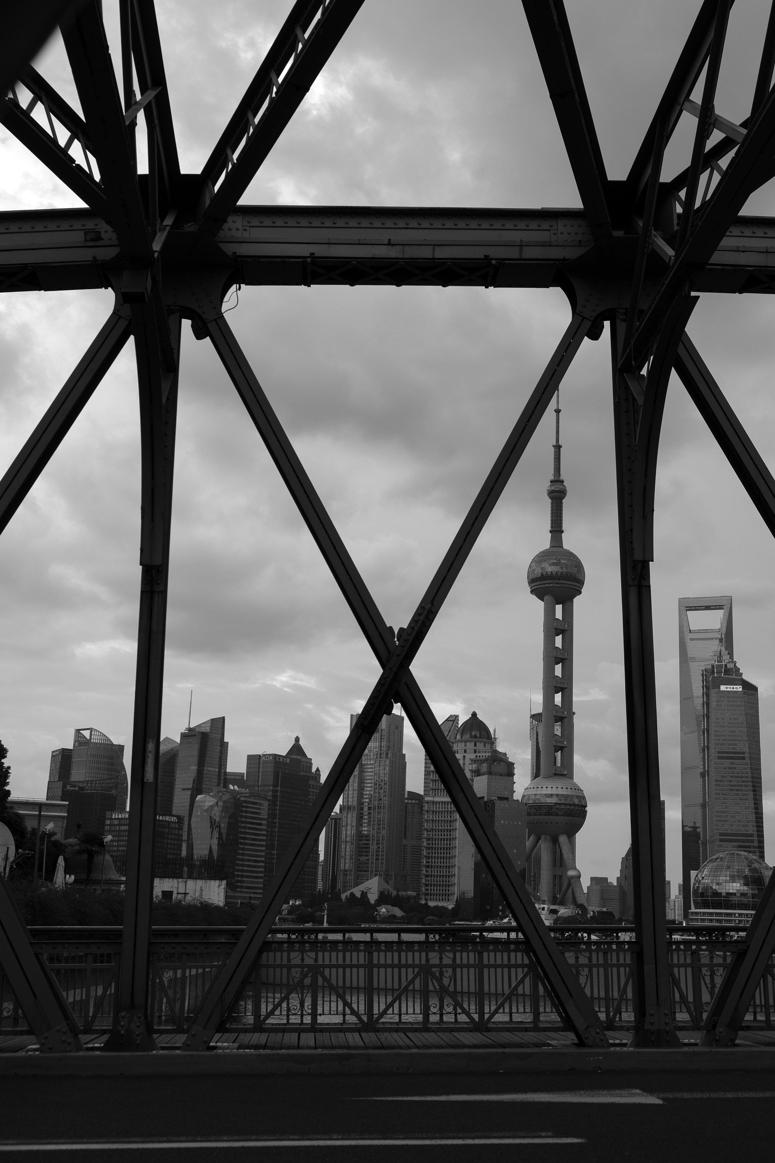 Skyline from Waibaidu Bridge, Shanghai