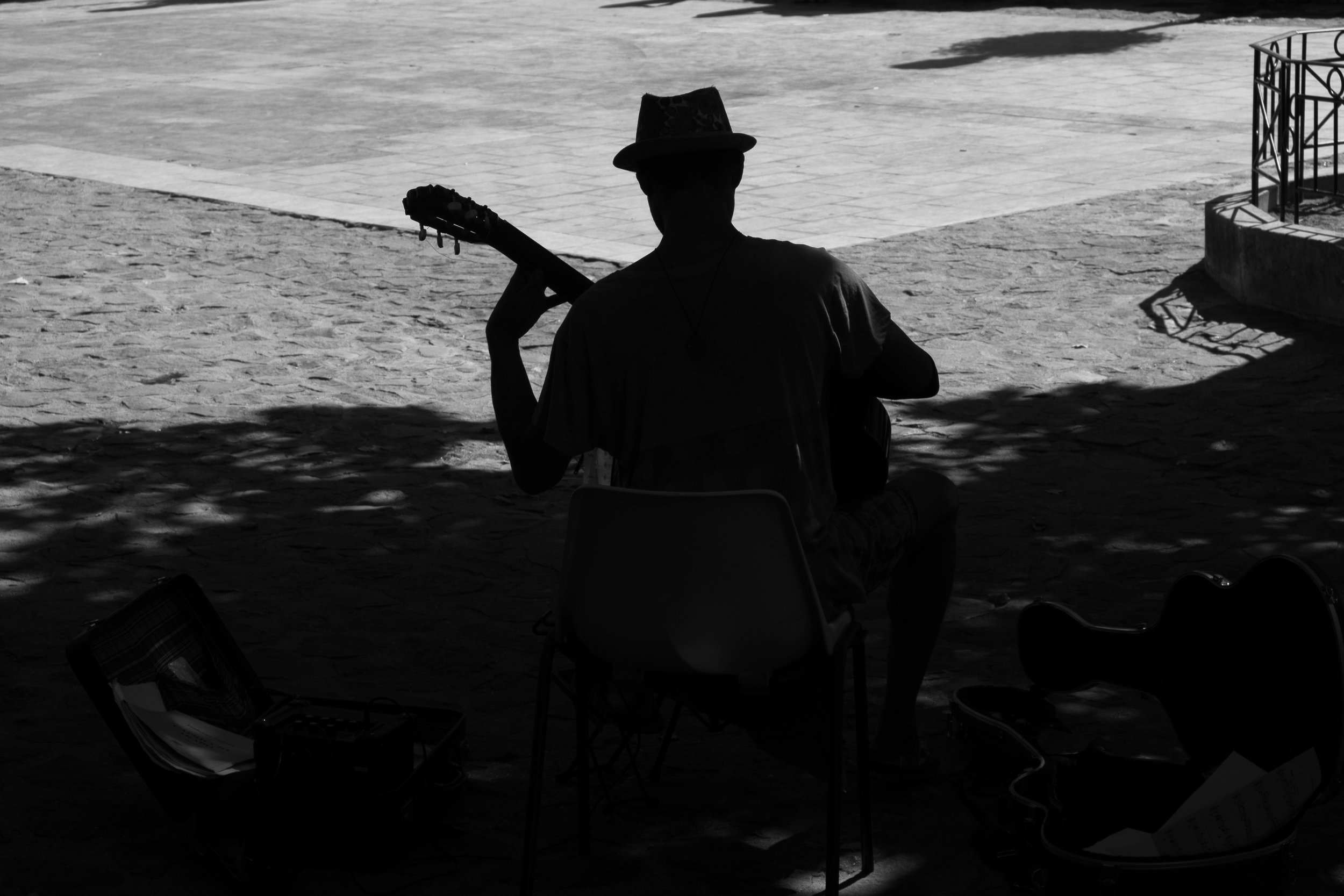 Guitariste ,  Moustiers-Sainte-Marie