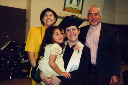 Melanie Lombard and her daughter Ariana (front row)