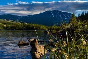 Utsikt mot Gaustadtoppen. Foto: Gaustablikk