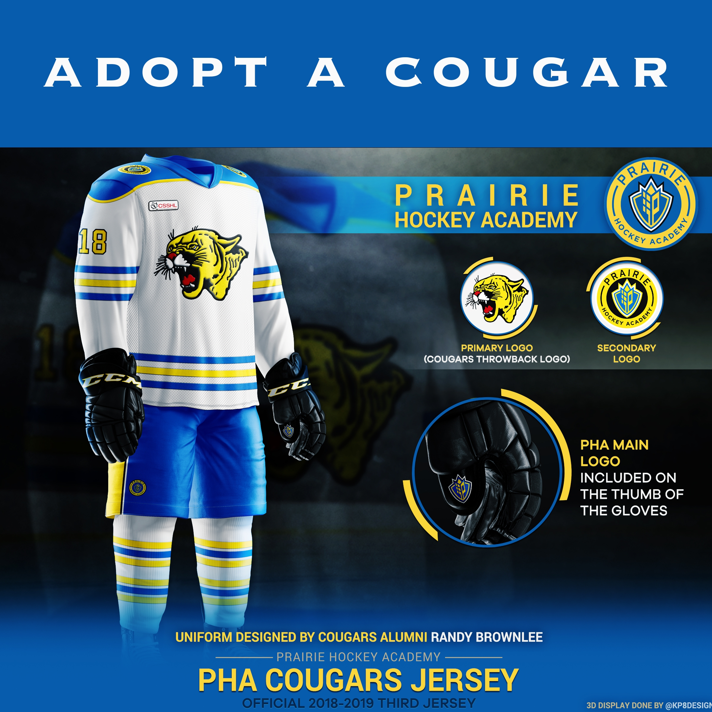 Prairie Hockey Academy is proud to launch the Adopt – a – Cougar program. - This venture has been developed to allow a limited number of alumni, businesses and sponsors, an opportunity to adopt a player. As a sponsor of a student-athlete, you will receive the following benefits, but not be limited to.