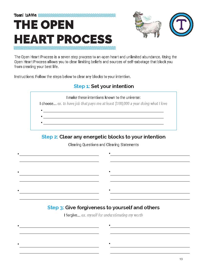 Open Heart Process Self-Sabotage Worksheet