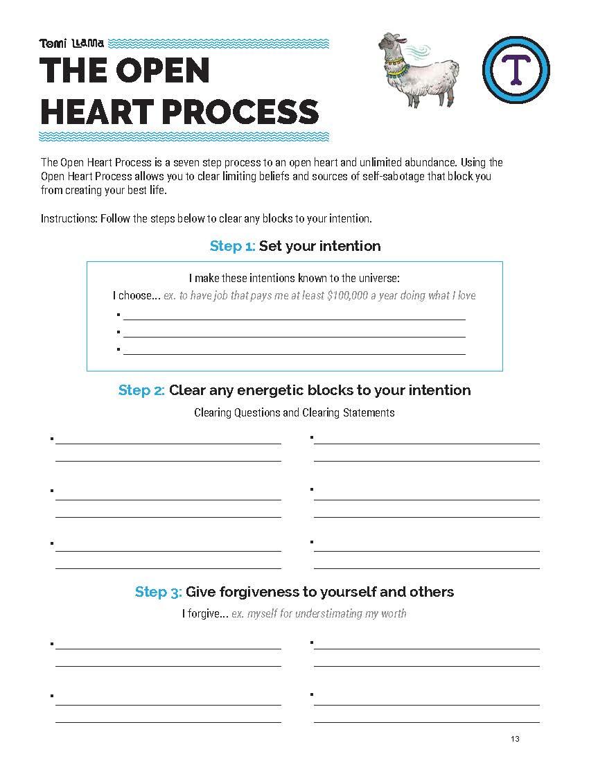 Open Heart Process Limiting Beliefs Worksheet