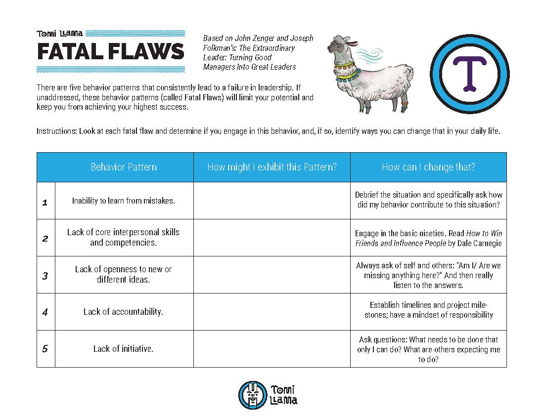 Fatal Flaw Worksheet