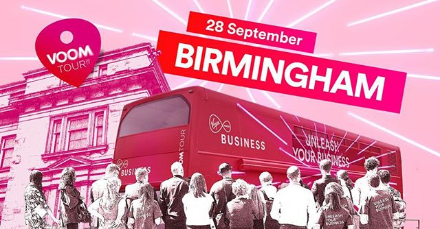 Beep beep! The Virgin Media Business #VoomTour is rocking into Birmingham. Join them for free business advice, 1-to-1s, workshops & much more 28/09/2017 - 12-7pm- Custard Factory North Yard Carpark  Register now: hhttps://virg.in/voombirmingham