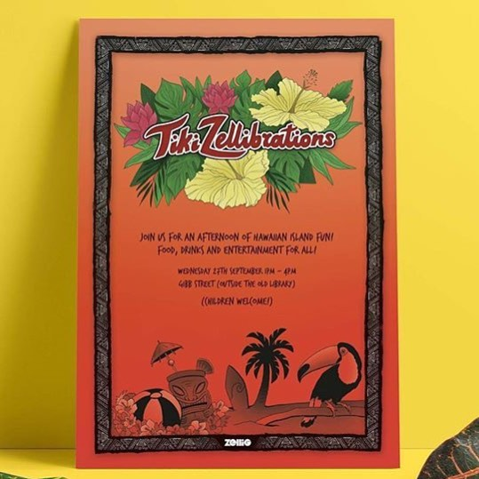 Remember tiki zellibrations will be happening tomorrow in the old library! Come join us between 1-4pm for Hawaiian island fun 🌴🌱🌾☀️🌊 #zellig #digbeth #hawaiian #party #oldlibrary