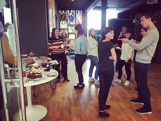 'Act natural' shout out to @faber.design for all their delicious cakes! You're all superstar bakers 💫⭐️💫 #macmillancoffemorning #zellig #cake