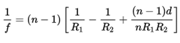 Lensmaker Equation