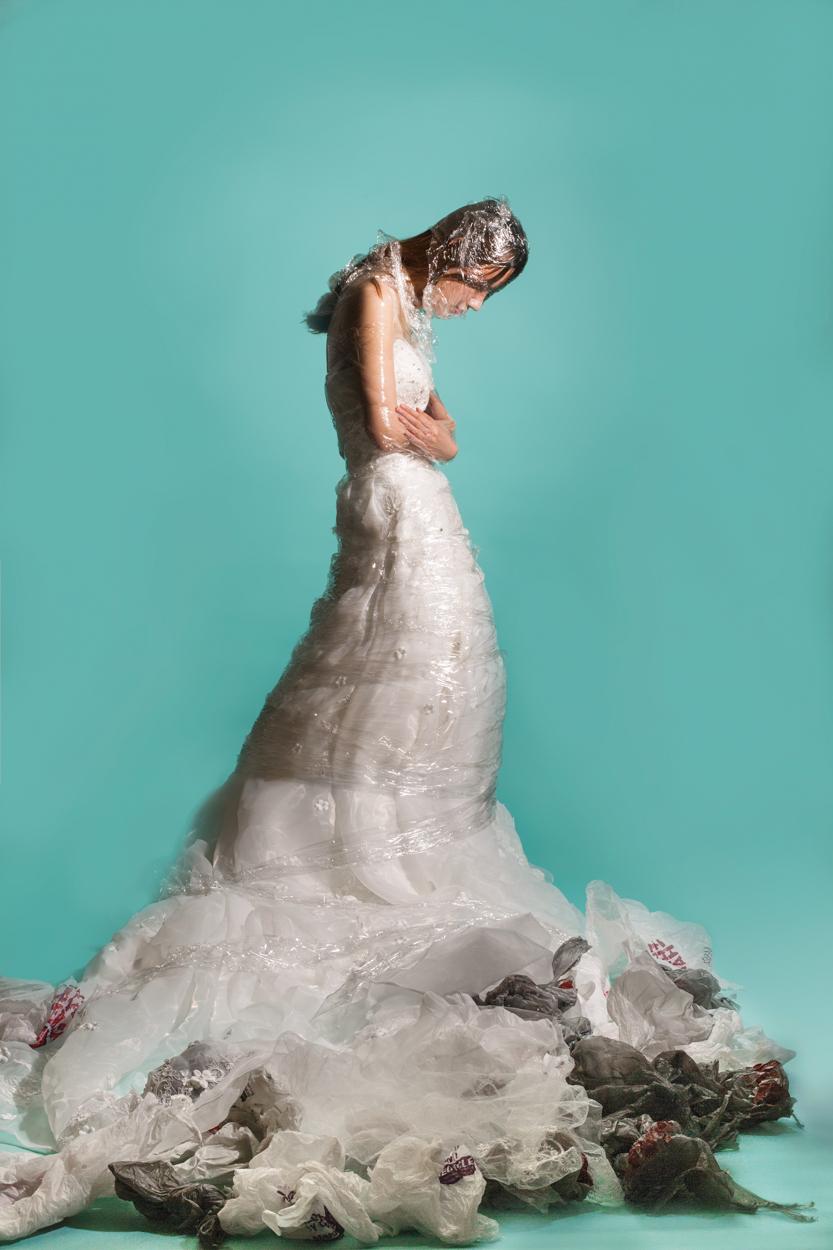 Marriage, Wedding Dress, Plastic Wrap, Plastic Bags