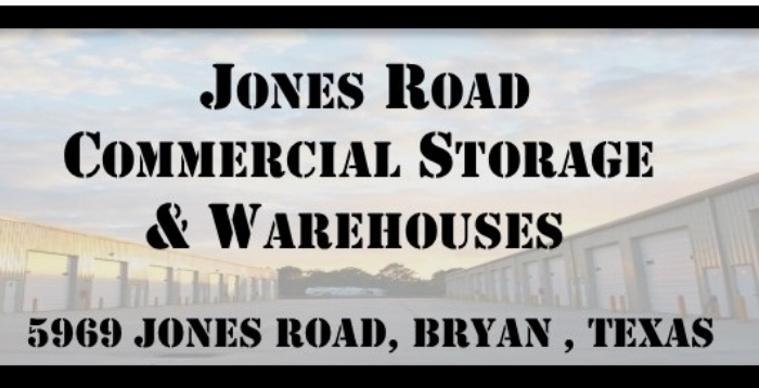 THE FACILITY  Specialized storage facility comprising of 11 buildings. Units ranging from 800 sq ft to 10,000 sq ft. Individually metered electricity, 115, 220 and 3 phase power, and water in all units. Fenced with electronic gate, video surveillance, security lighting, 24/7 access, RV dump station and vehicle wash down on site. Perfect for storing excess inventory, Motor Homes/RV's, project cars and trailers.  Easily accessible, and conveniently located close to town. Located just behind the Brazos County Expo Center off of Jones Road.