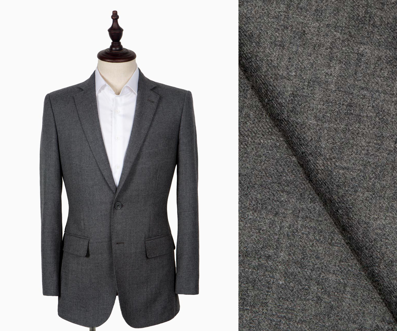 A light grey flannel suit.