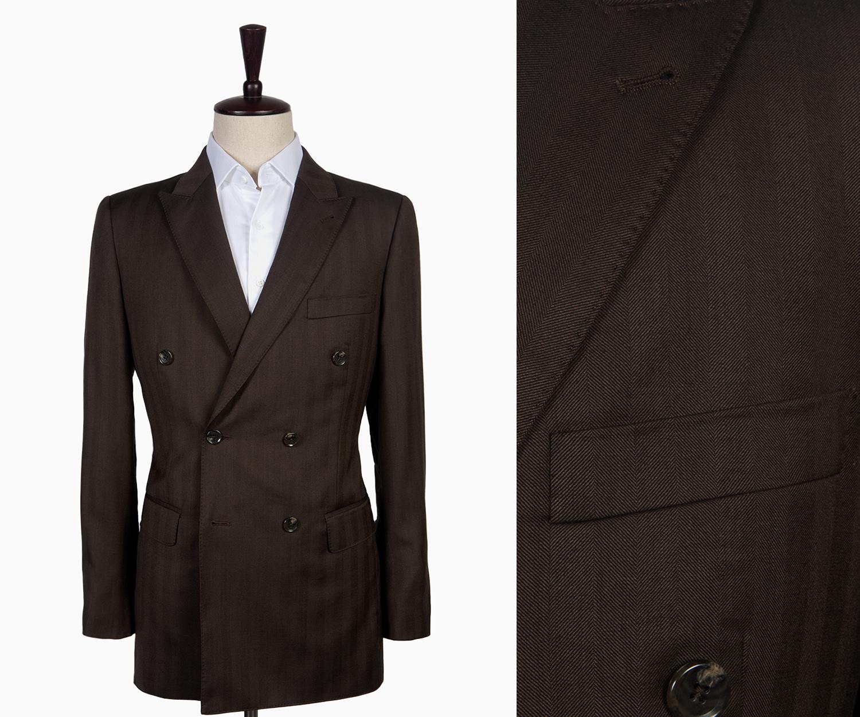 A brown herringbone suit.