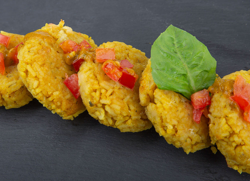 Goan Curry Rice Cakes
