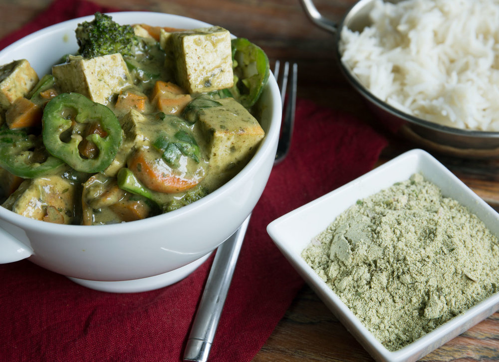 Thai Coconut Green Curry with Tofu