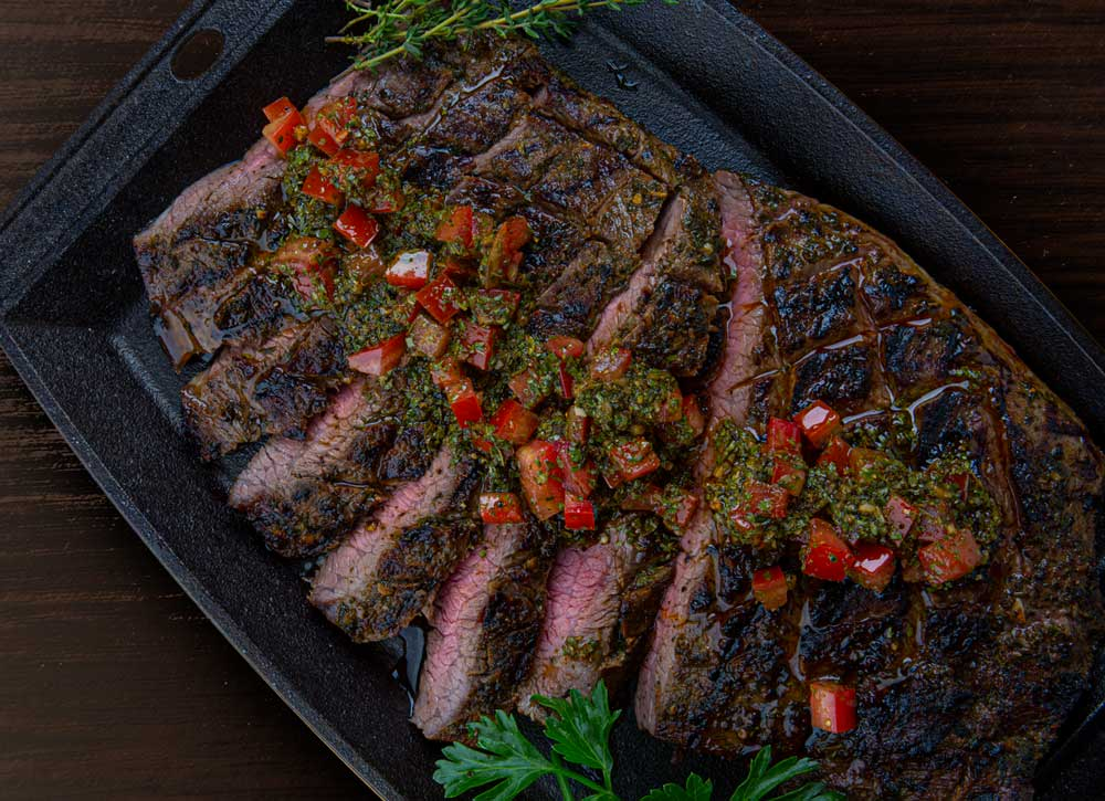 1. Grilled Flank Steak with Chimichurri - A brightly flavored combination of finely chopped herbs and aromatic seasonings, our Chimichurri Blend is a shortcut to creating authentic Argentinean-style chimichurri in minutes. Use to top flank steak in this quick, flavorful recipe.