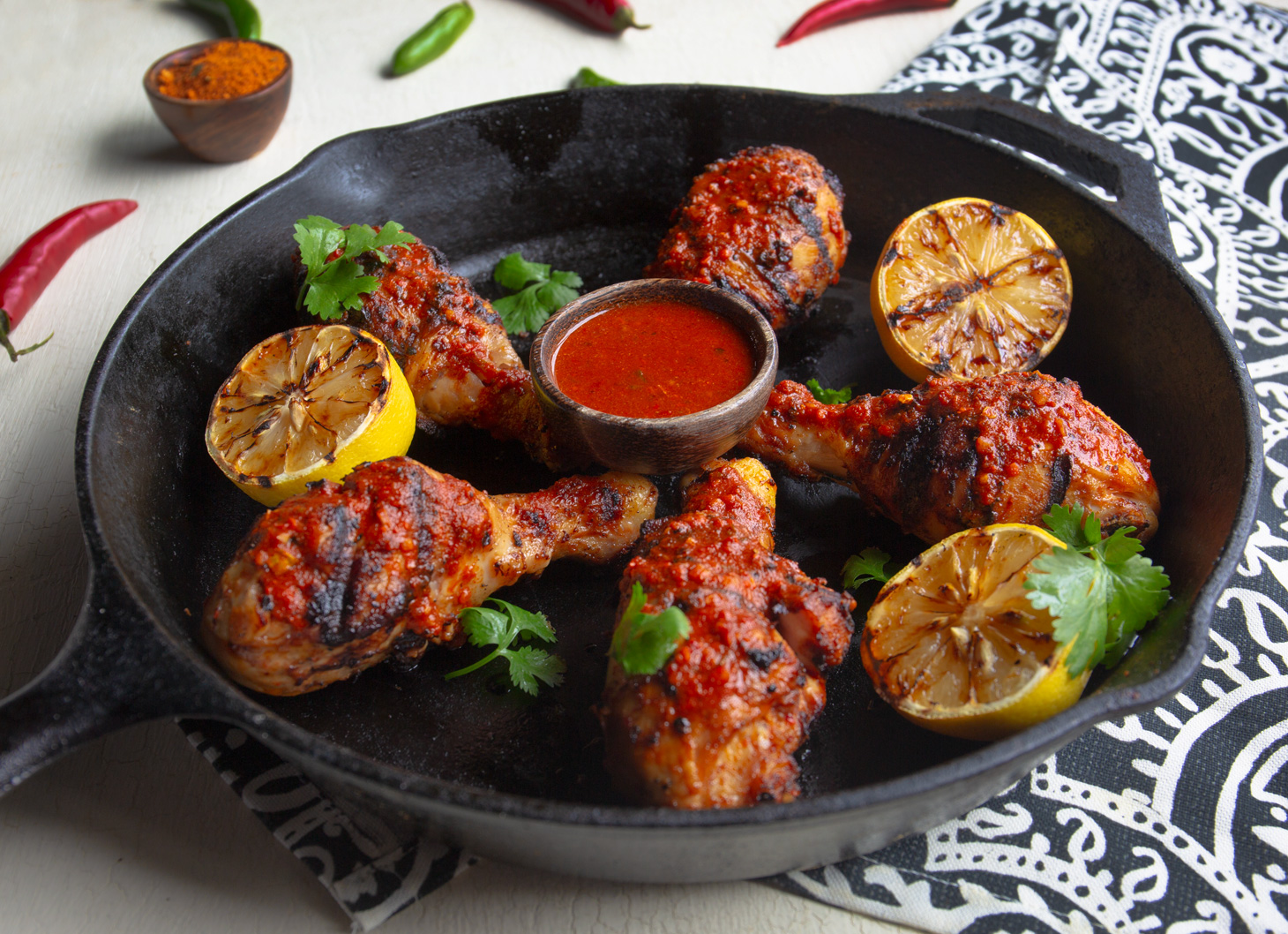 10. Spicy Piri Piri Chicken  - Portuguese Piri Piri is sweet, smoky and addictively spicy. This recipe uses our Piri Piri Sauce Starter as both a marinade and sauce for tender chicken legs.