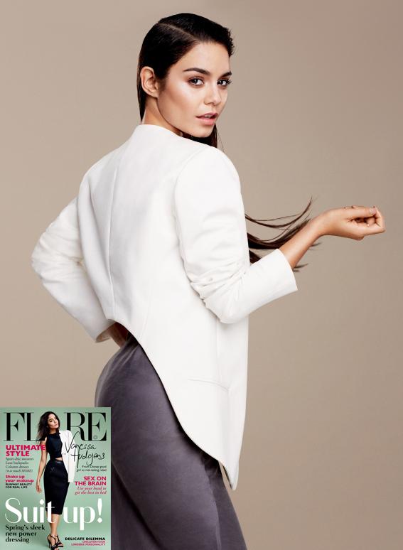 """Flare  , February 2013. """"Vanessa Hudgens"""""""