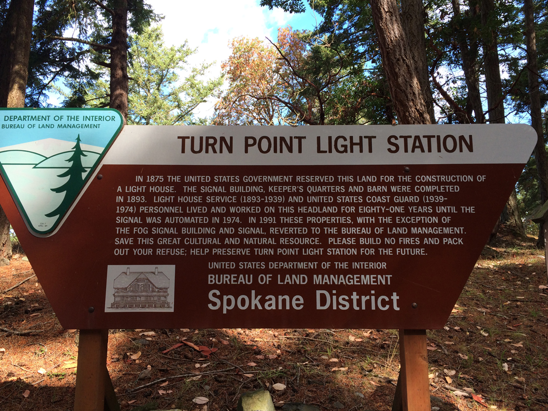 Entrance Sign - Turn Point Light Station
