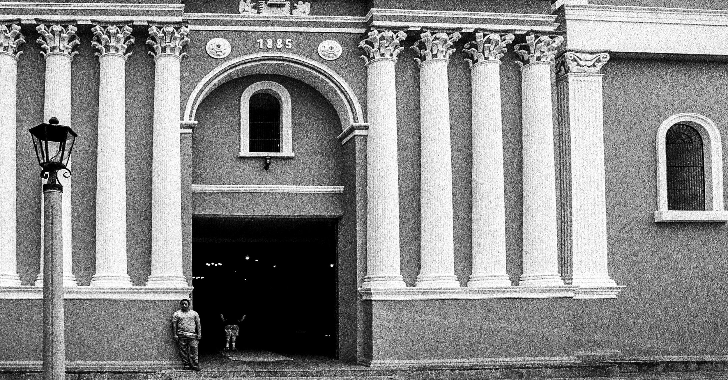Our Lady of Santa Ana Church, Chinandega, Nikon F2, Ilford HP5+