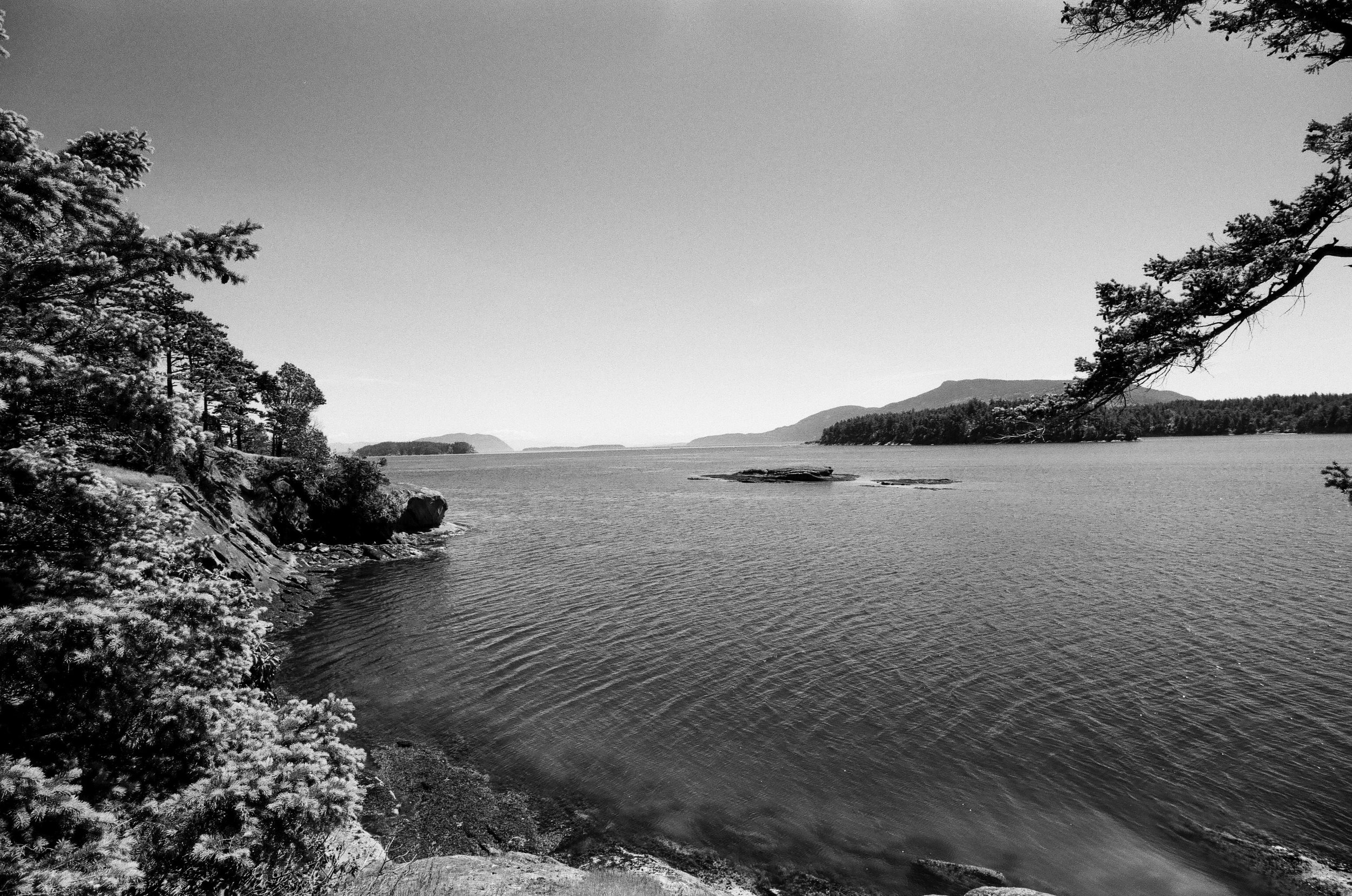 Echo Bay, Sucia Island, Washington. Fuji Acros 100