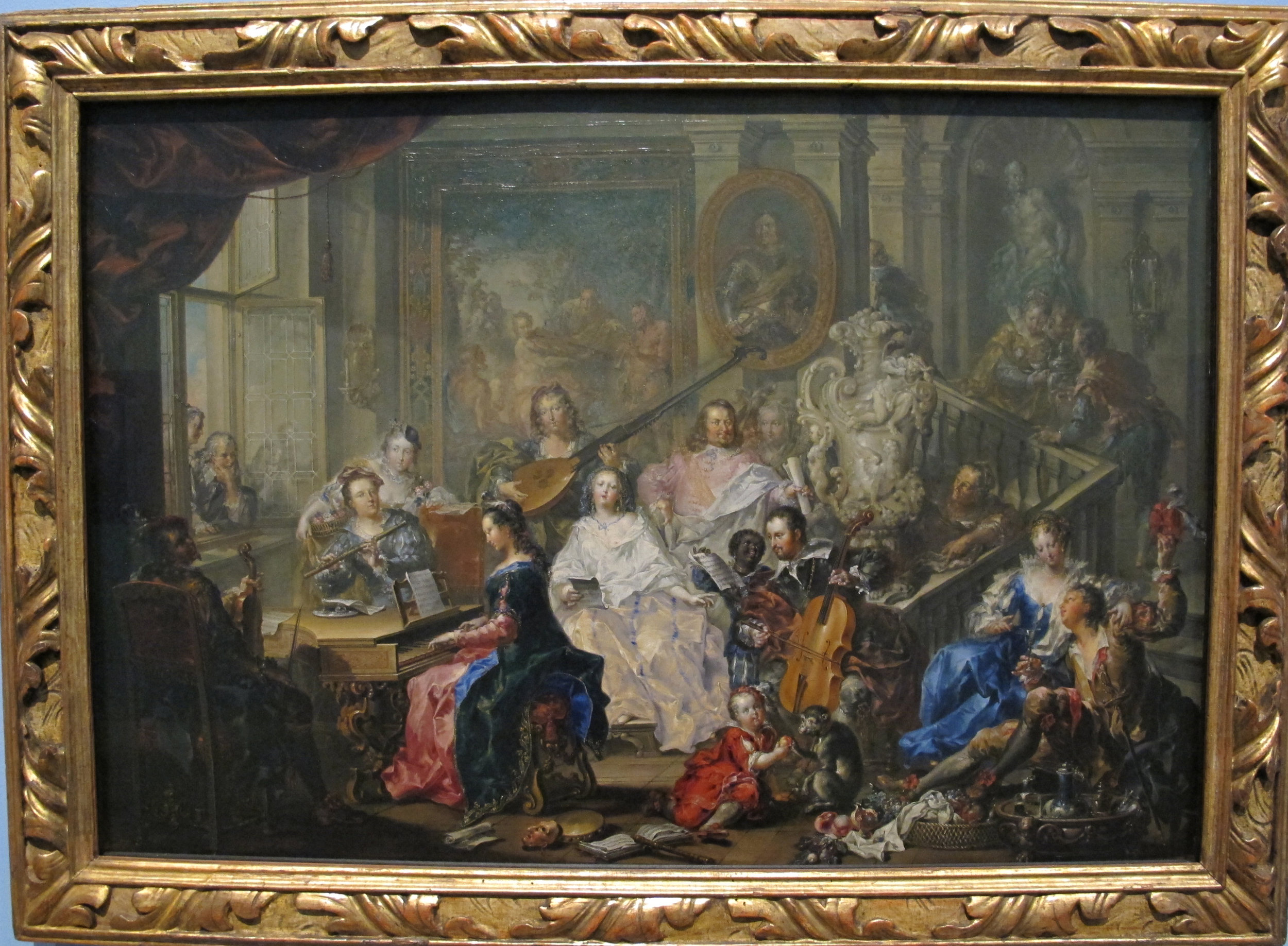 Johann georg platzer, il concerto, vienna, 1750