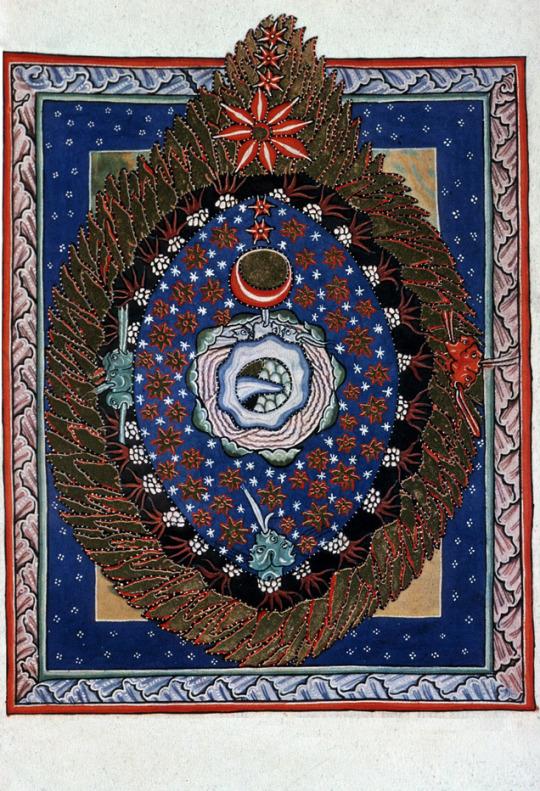 Scivias Codex: Book I,Third Vision, The Universe, 1165