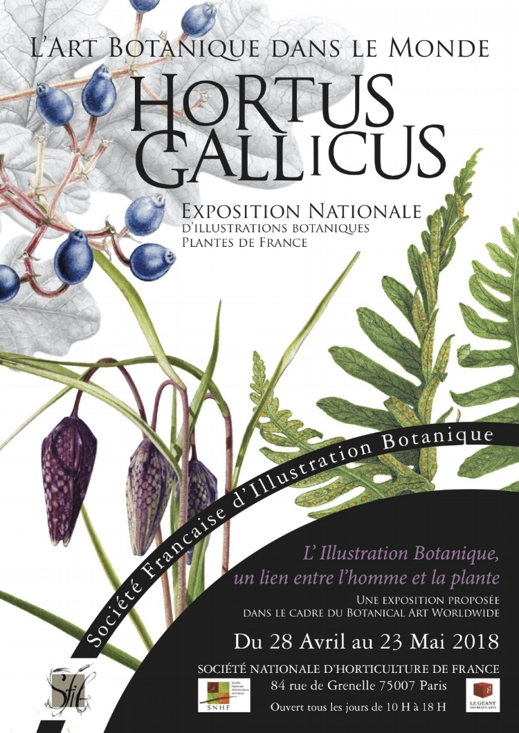 Hortus Gallicus poster, designed by Florence Gendre.
