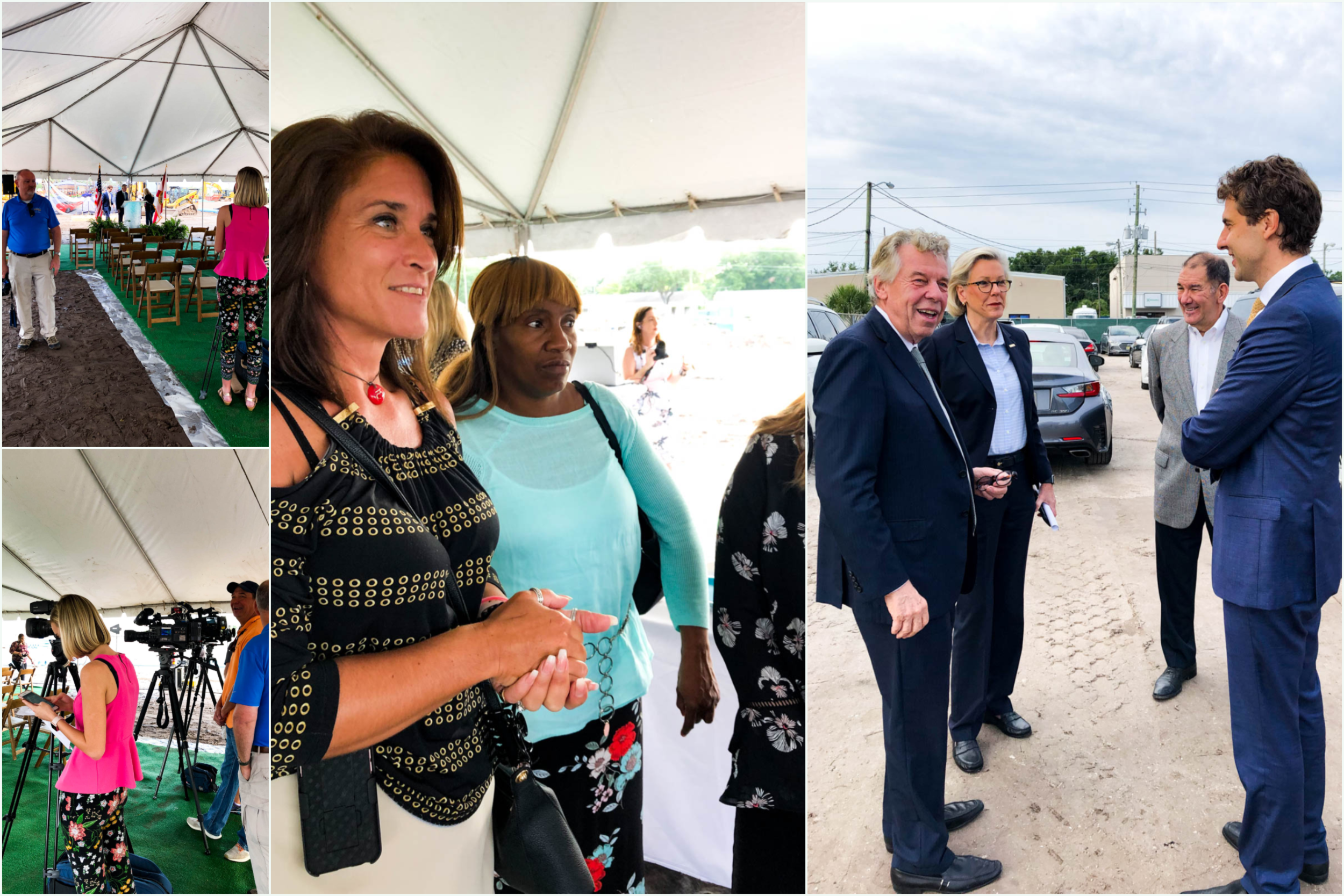 Featured: (Middle) Barr & Barr's Gina and Vicky; (Right) Bromley Companies Chief CEO's William and Nick Haines and Tampa Bay's Mayor Jane Castor
