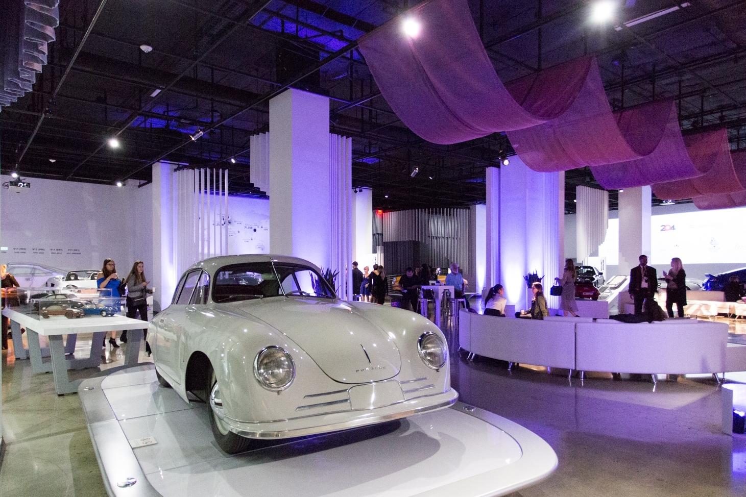 """An event inside """"The Porsche Effect"""" exhibition."""