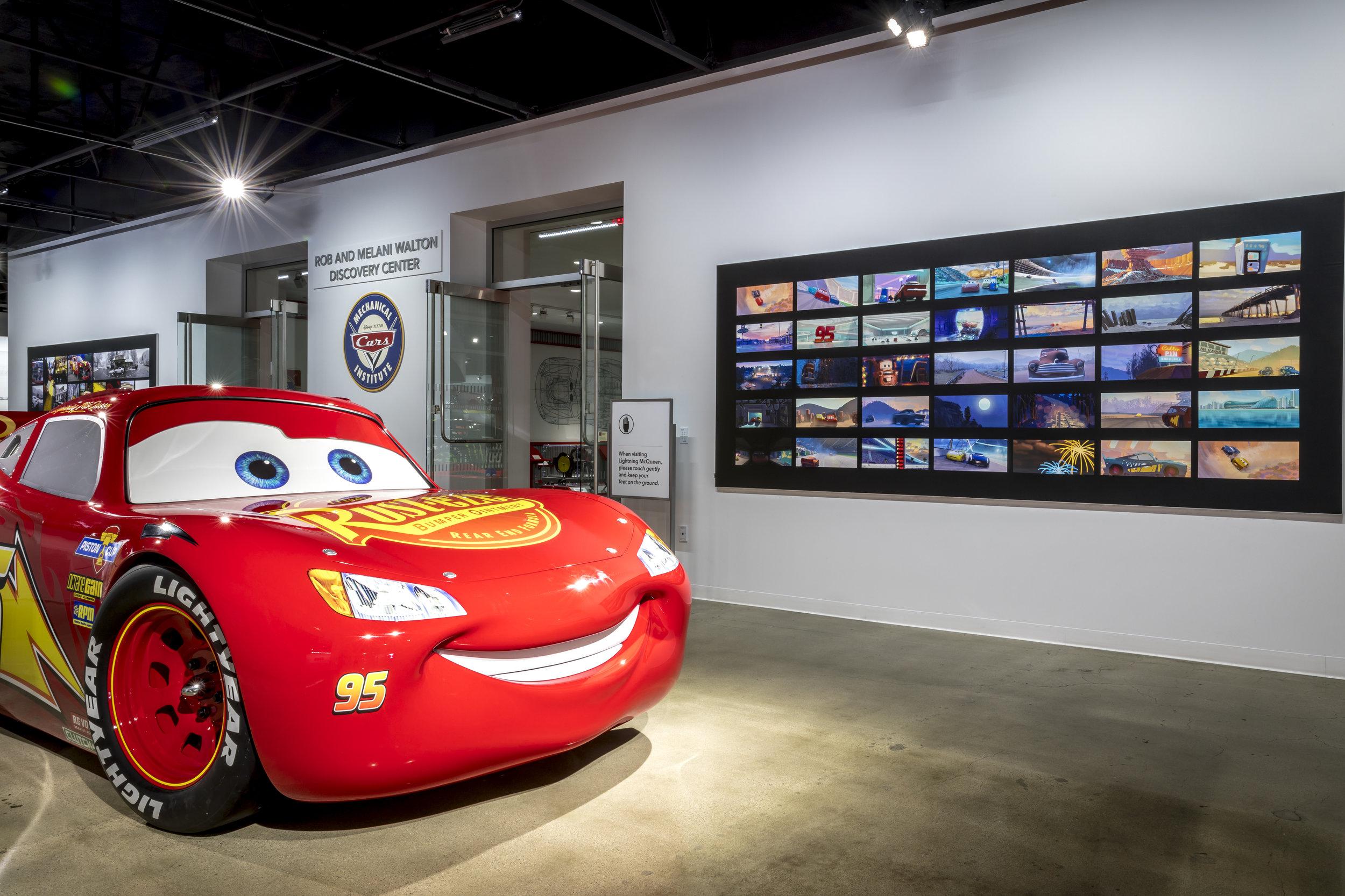 2015 Lightning McQueen on the second floor of the Petersen Automotive Museum.