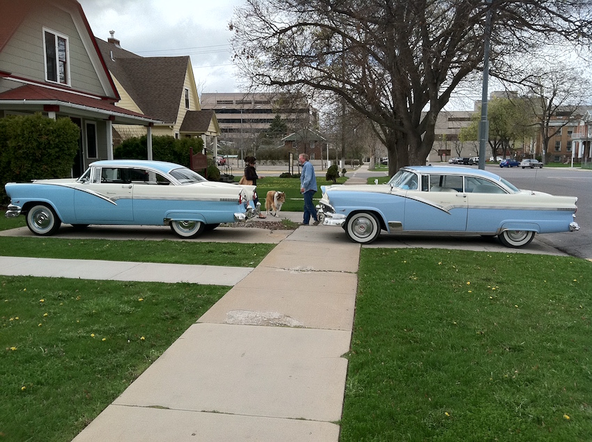 56 Ford in front of my restorers 56 Ford.jpg