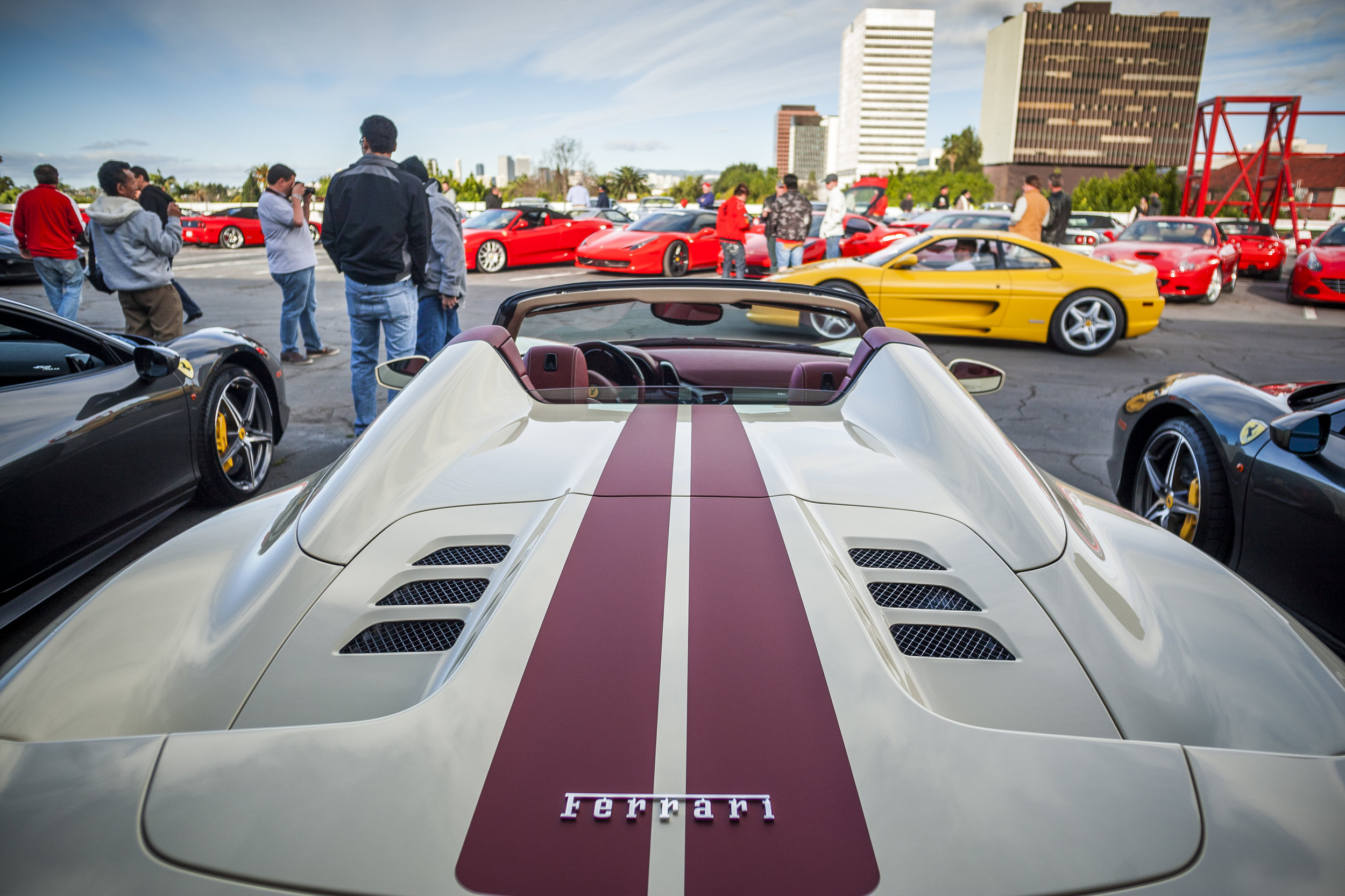 Ferrari+ cruise-in+petersen+museum
