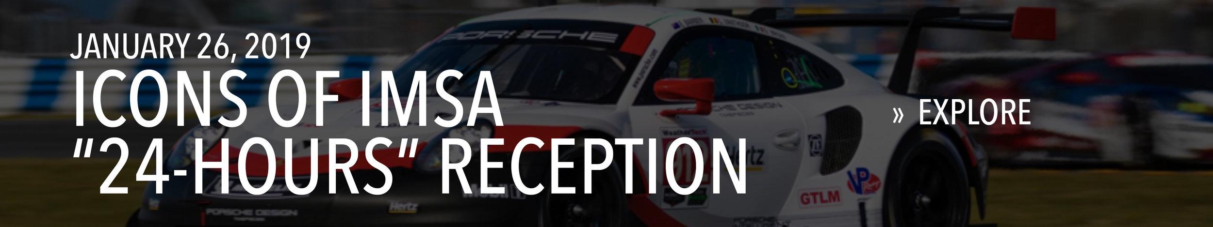 "Icons of IMSA ""24 Hours"" Reception on January 26, 2019."