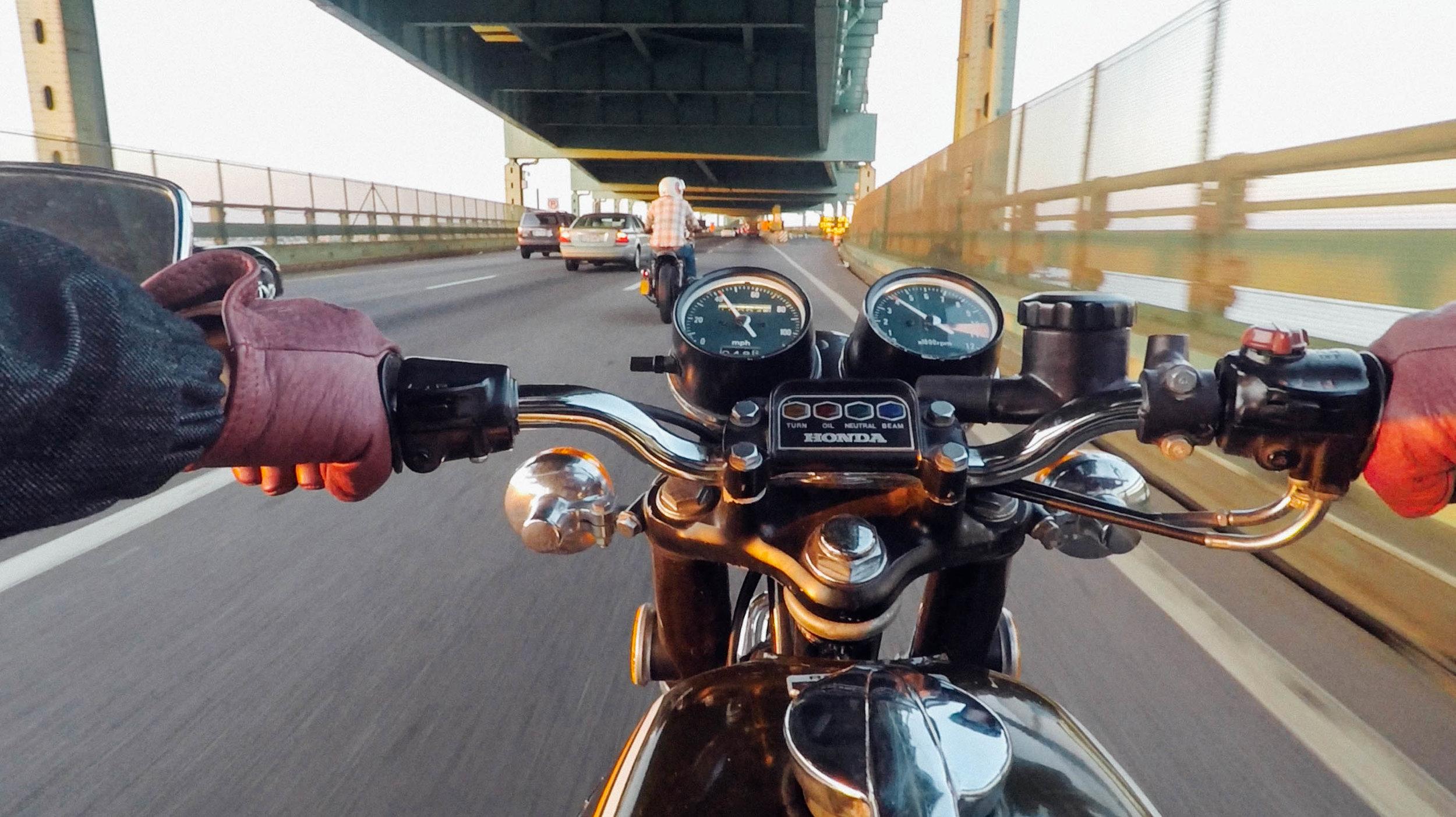Crossing the Tobin Bridge in Boston. Photo by Kim Maroon